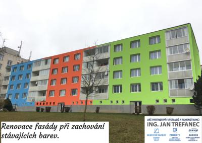 Renovace fasády na bytovce