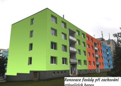 Renovace barev fasády