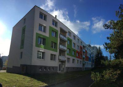 Nová fasáda na bytovce