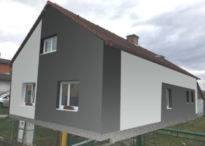 Návrh černé fasády na domě