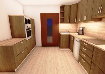Vizualizace průchozí kuchyně