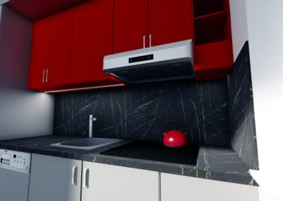 detail kuchyňské linky